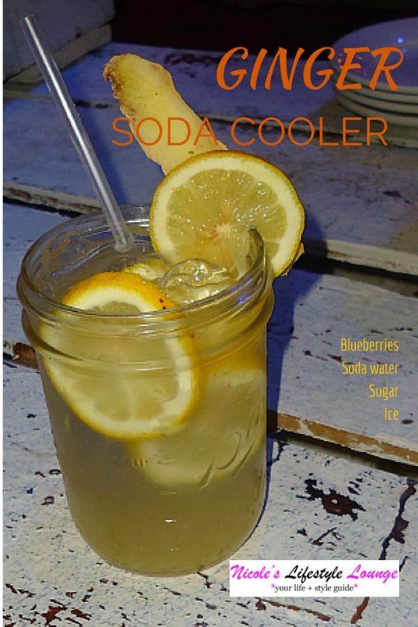 Juice Mocktail Recipes: Ginger Soda Cooler #cocktails #signaturedrinkrecipe