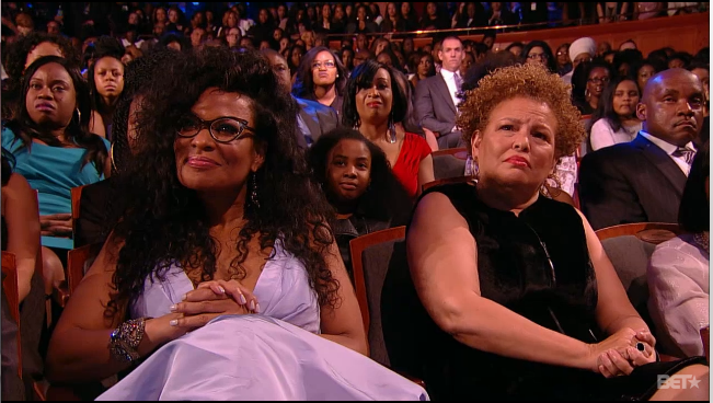 Rock! Beverly Bond and Debra lee Chairman and CEO of BET.