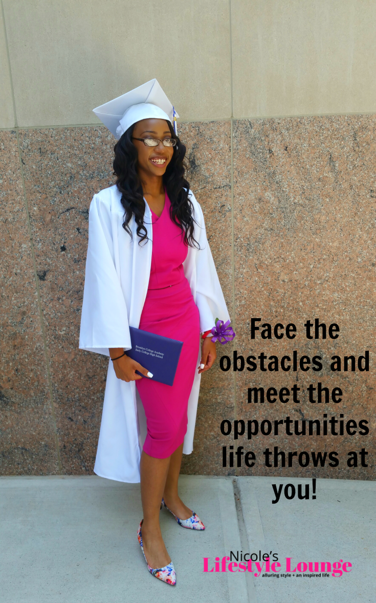 Fear will try to steal your resolve, but you must muster the courage to push through. #graduation #collegebound #mommyblogger #goals
