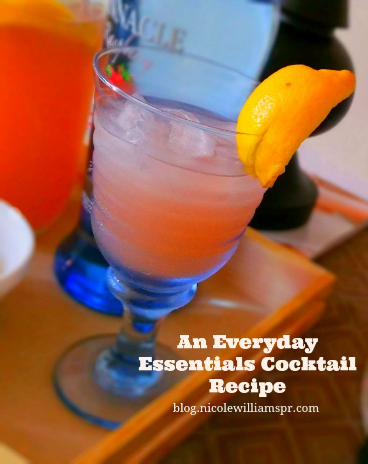 An everyday essentials cocktail recipe for any occasion. #PinnacleVodka #ad #PinhnacleCocktailClub #drinkrecipe #cocktailrecipe #happyhour