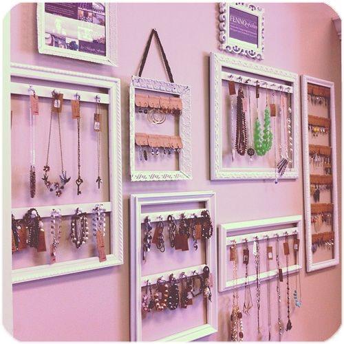 Ways to display your jewelry. #accessories #jewelry