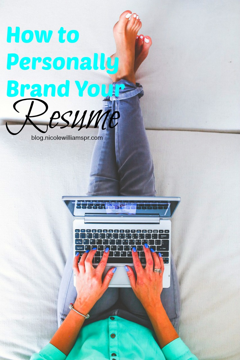 4 ways to personally brand your resume. #careertips #personalbranding