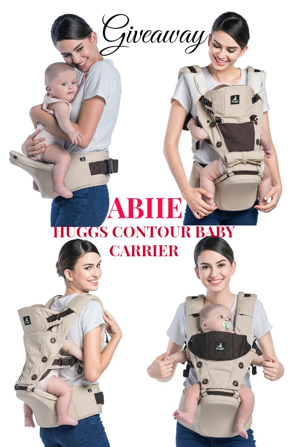Win a Abiie HUGGS Contour baby carrier.