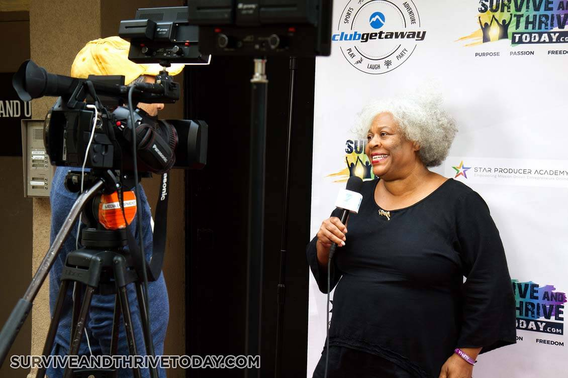 Marva Allen CEO of Wordeee and Co-founder of Survive & Thrive, at the Survive & Thrive press party.
