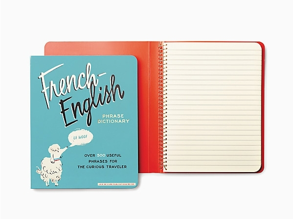 Kate Spade Fenchie spiral notebook.