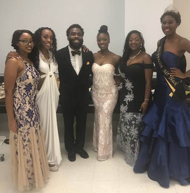 Pageant Dad and event coordinator--Mickaël Dejean, with his Queens