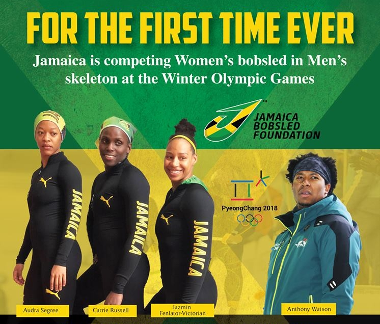 Photo from the Jamaica BobSleigh Facebook