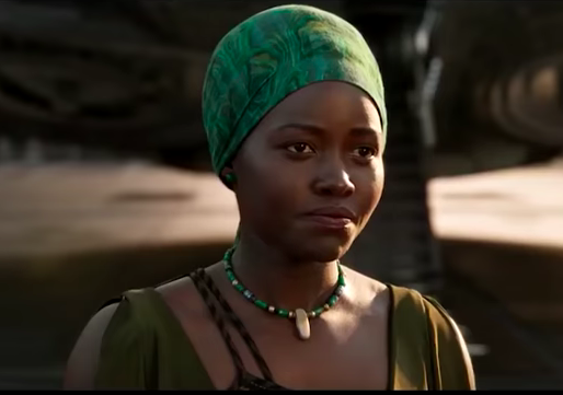 Nakia (Lupita Nyong'o)in Black Panther. Photo: Marvel (in-video screenshot).
