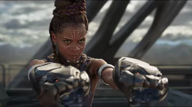 Shuri (Letitia Wright)  in Black Panther. Photo: Marvel (in-video screenshot).