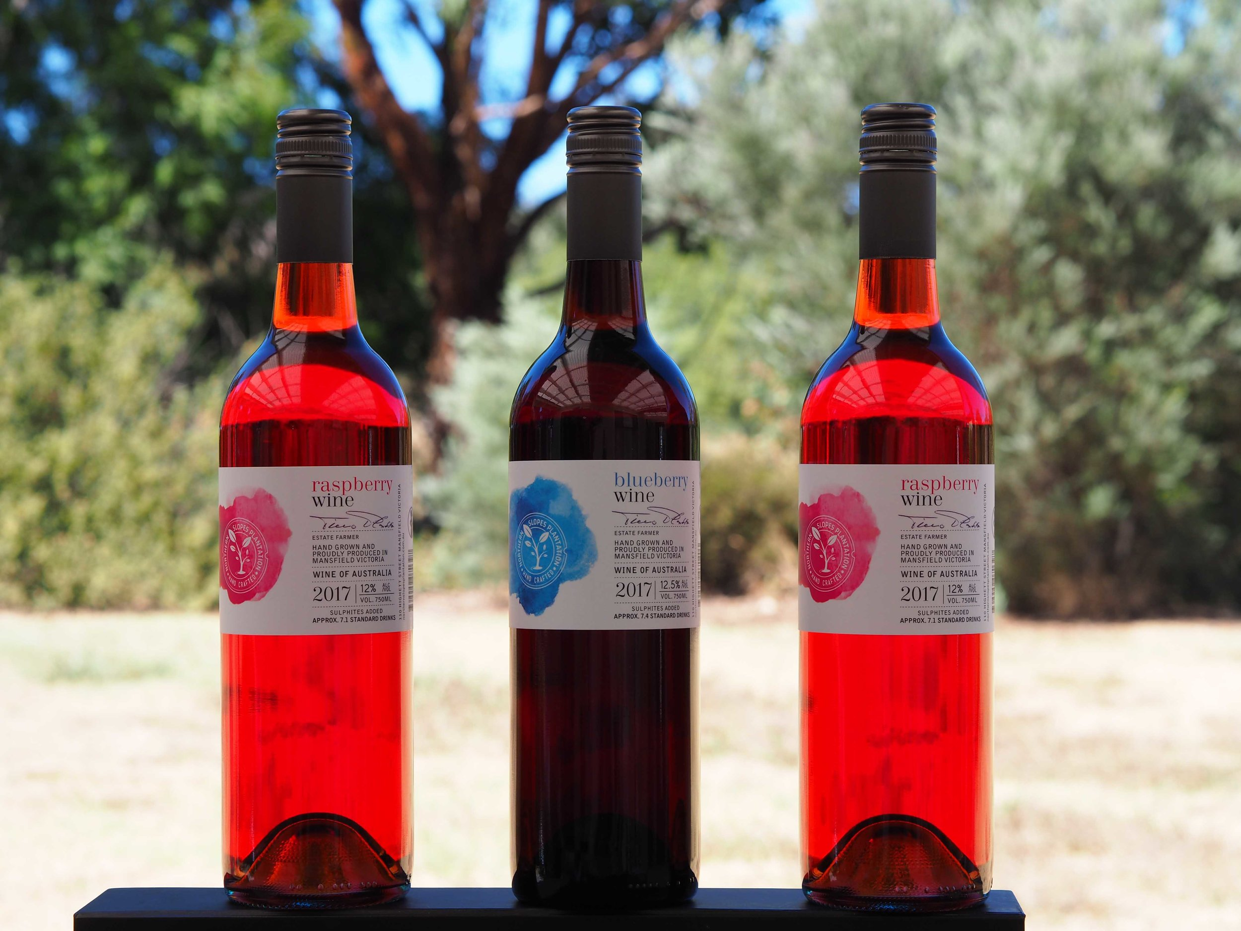 Our raspberry wine