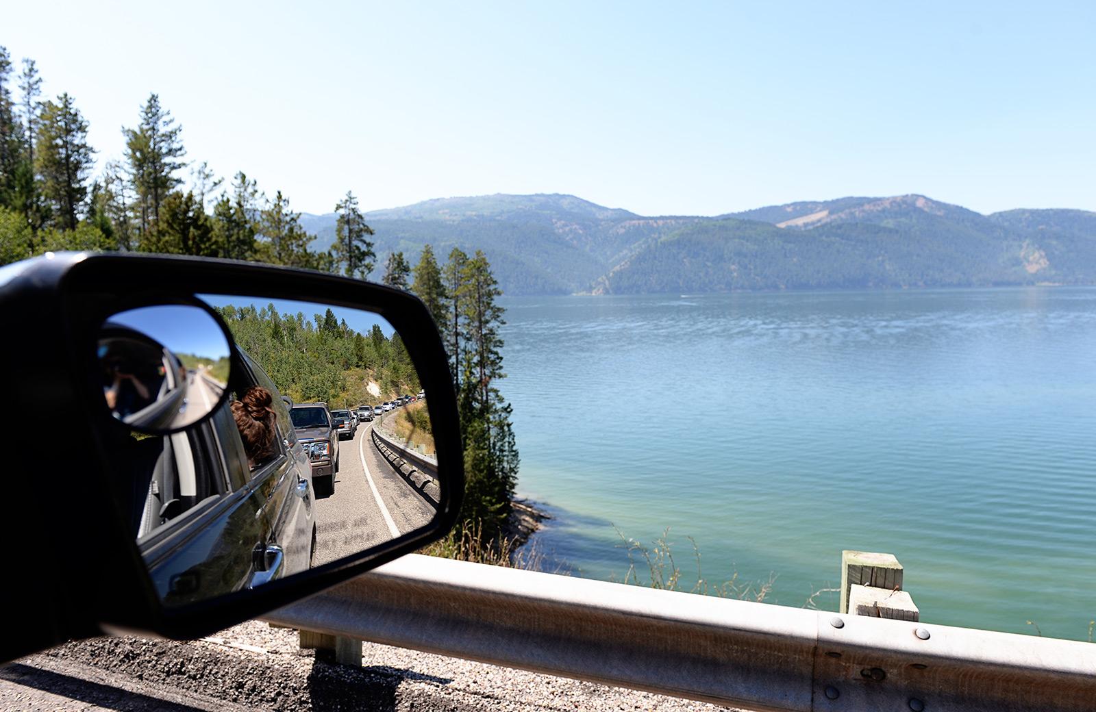 Palisades Lake, Wyoming.