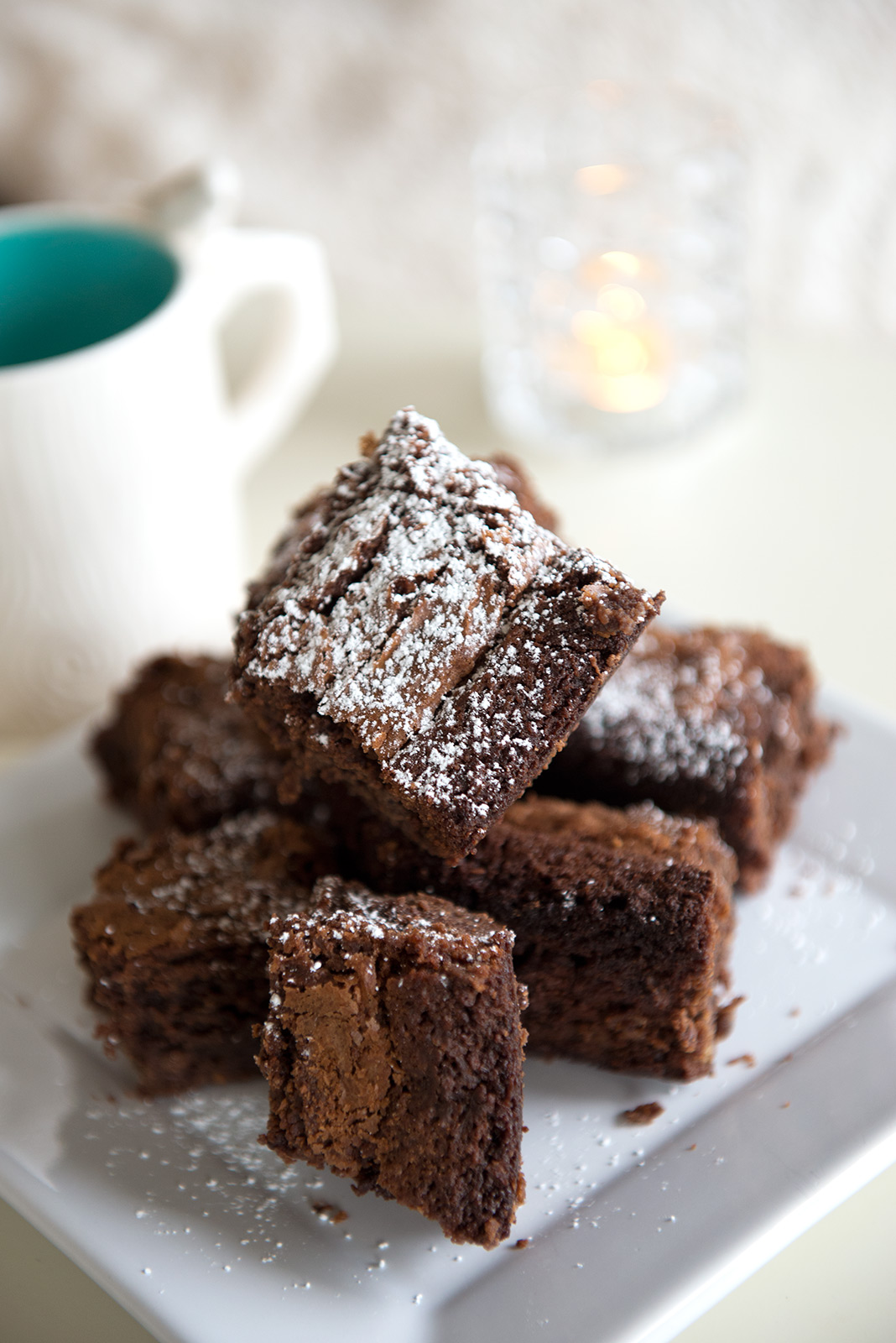 Nigella Lawson's Triple Chocolate Brownies  - one of our favorite things to bake!