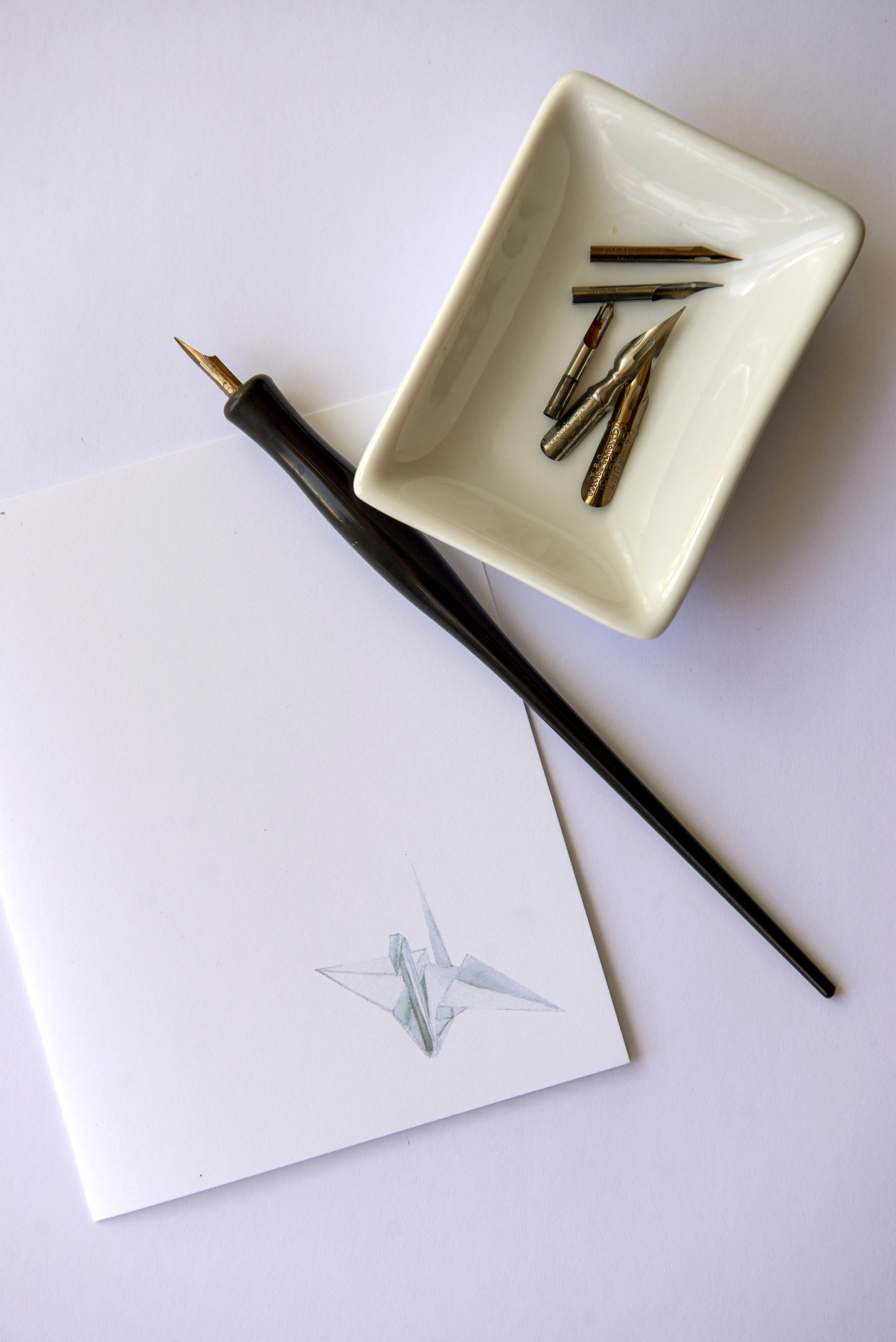 graphic relating to Printable Watercolor Paper named PRINTABLE Watercolor Paper Crane Greeting Card Heather Tycksen