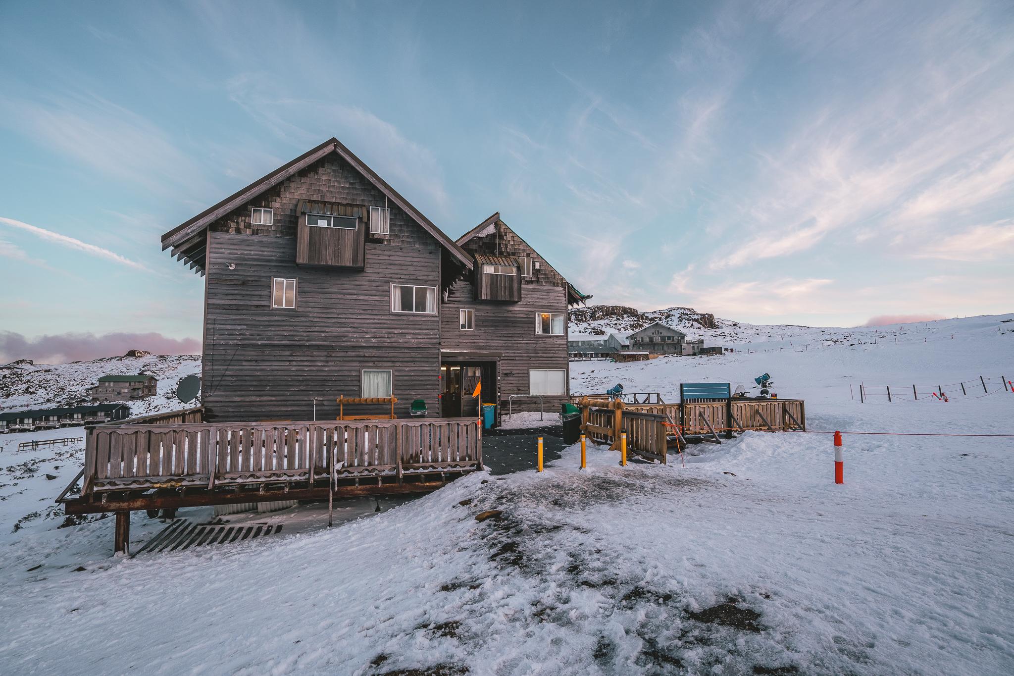 Ski, snowboard, and toboggan hire in this building. Ben Lomond Snow Sports.