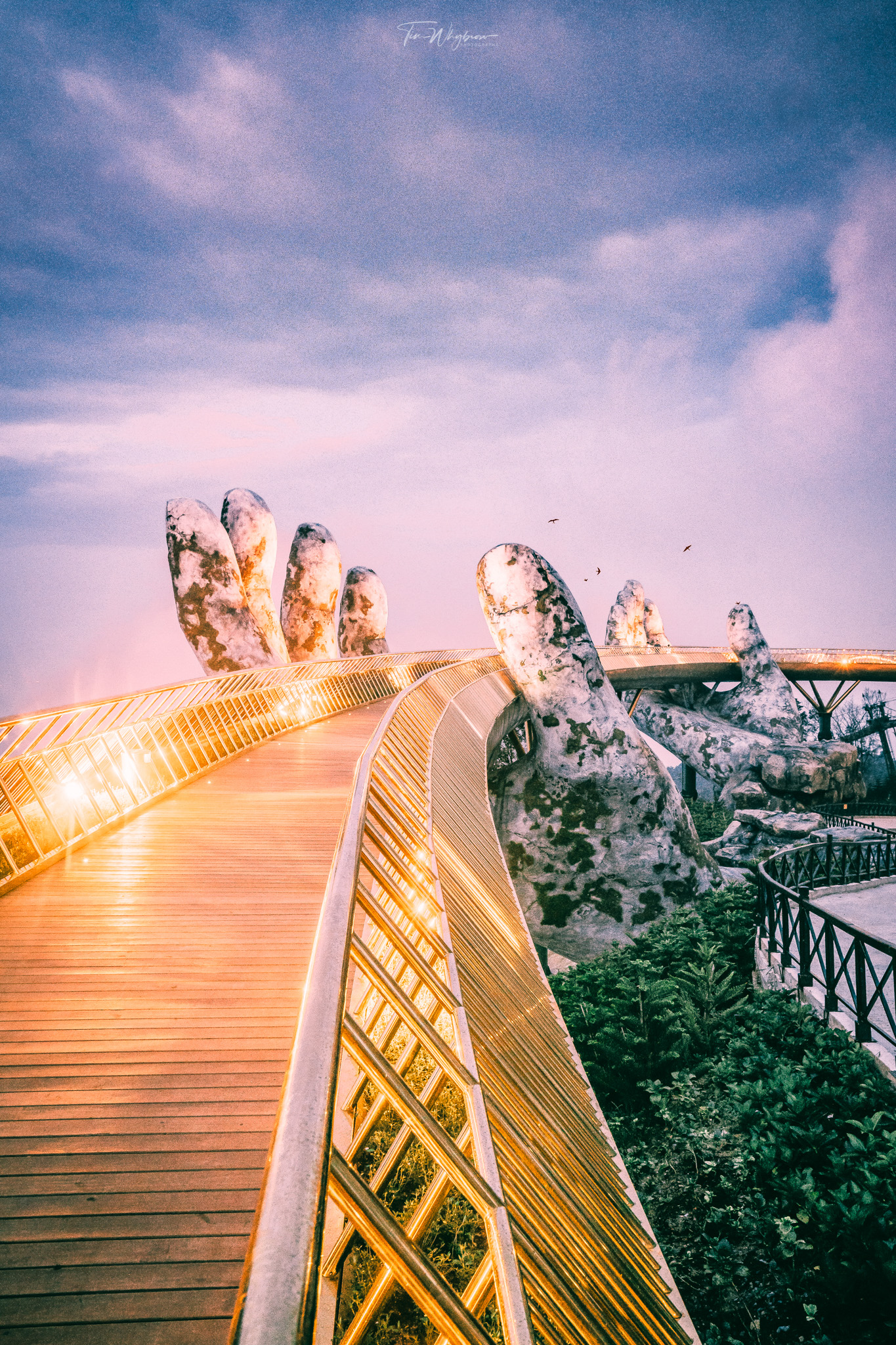 Golden Hand Bridge Vietnam   Instagram: @timwhybrow_