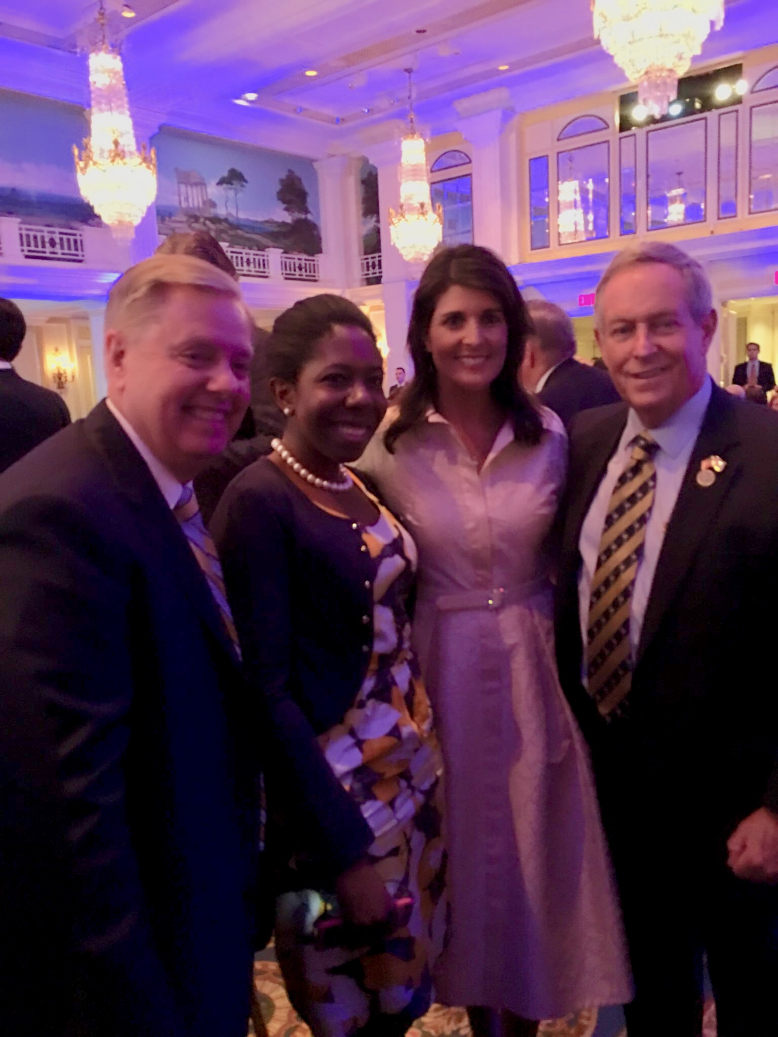 With U.S. Senator Lindsey Graham, Former US Ambassador to the United Nations Nikki Haley, & U.S. Congressman Joe Wilson