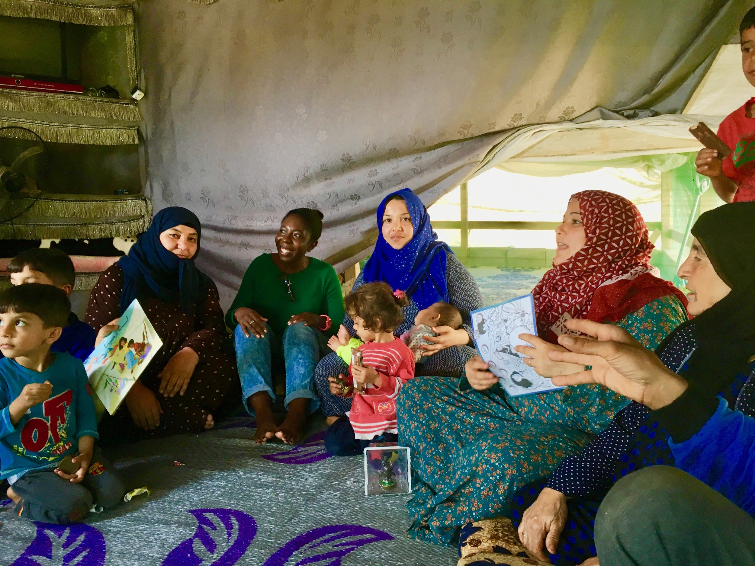 With refugees in the Middle East