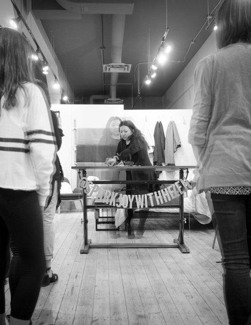 KonMari Workshop at Guildhall Home, KonMari Method Folding Demonstration