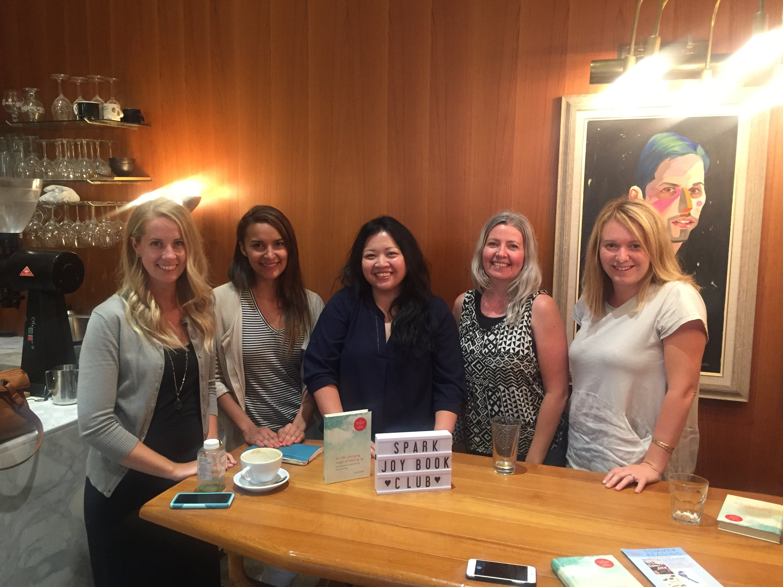 Spark Joy Book Club August 2017 Meeting at Phil & Sebastians Coffee Roasters - Mission