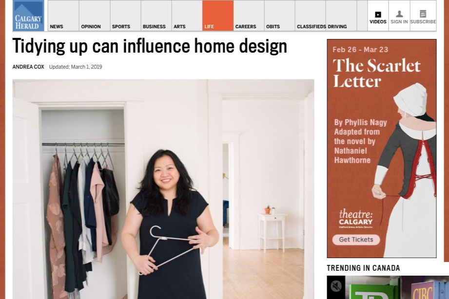 Helen Youn in Calgary Herald: Tidying Up can Influence Home Design