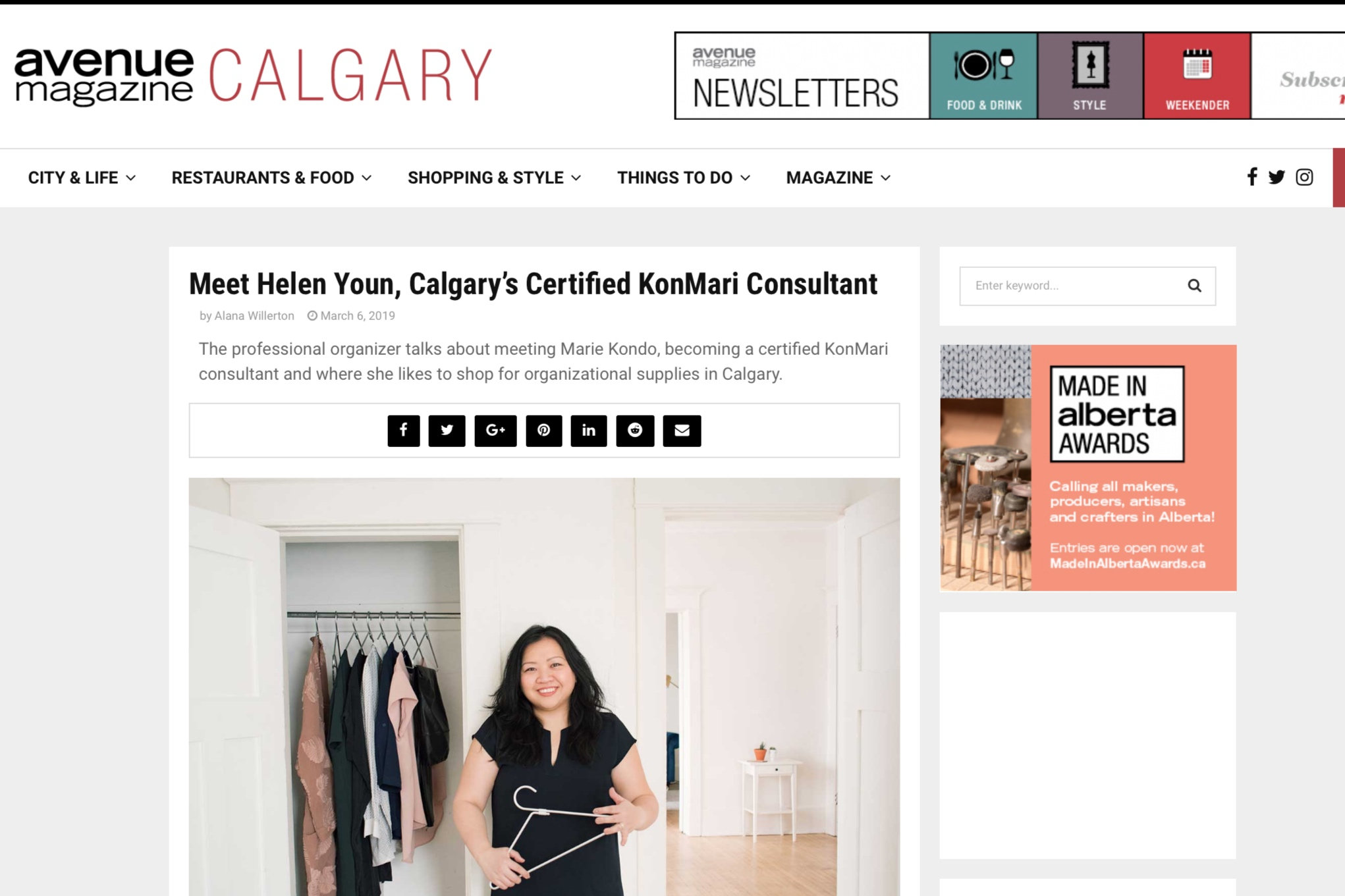 Avenue Calgary: Meet Helen Youn, Calgary's Certified KonMari Consultant