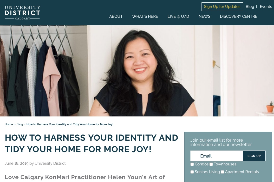 Helen Youn interview with University District Calgary