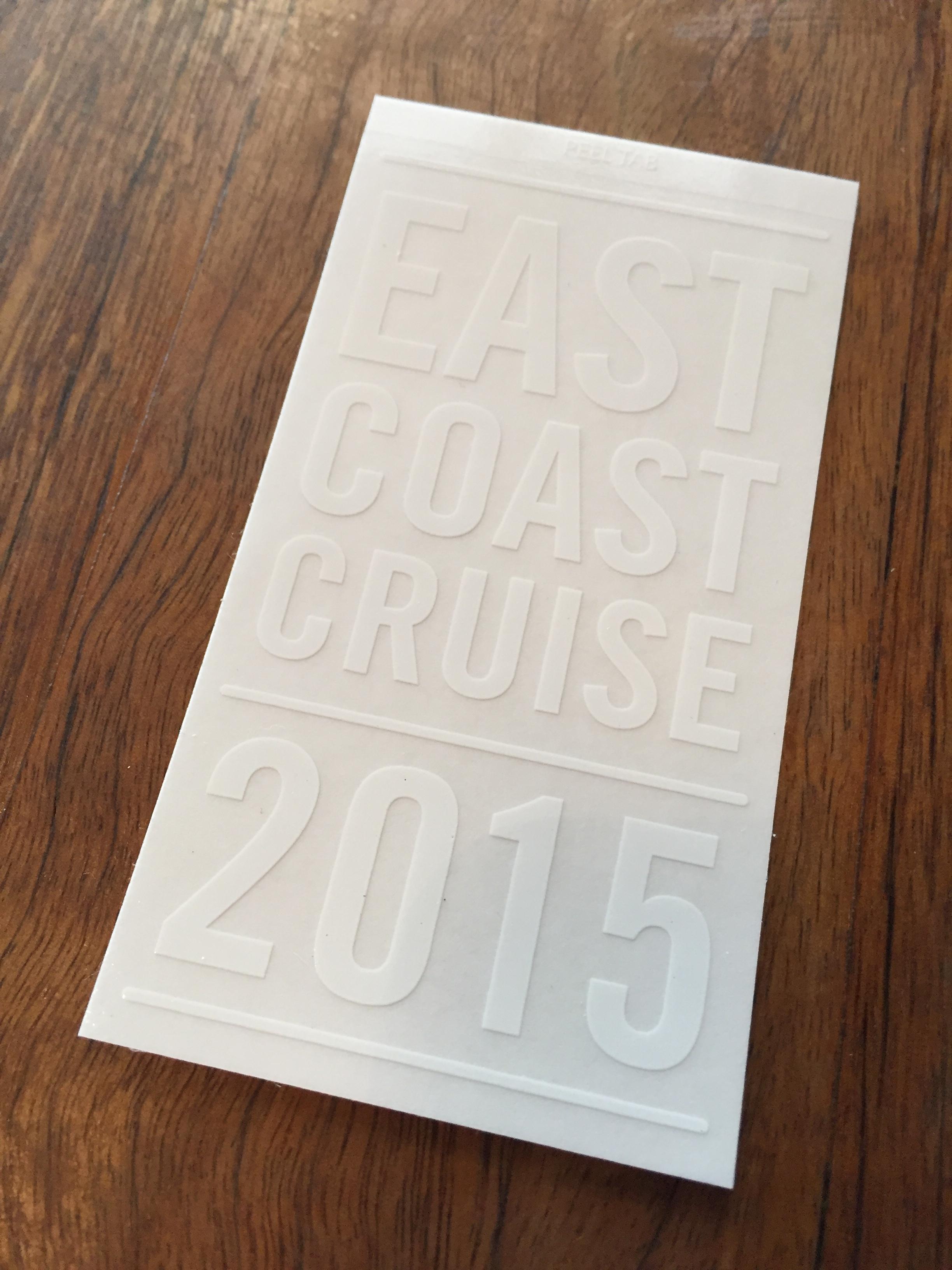 Screen printed / die cut stickers