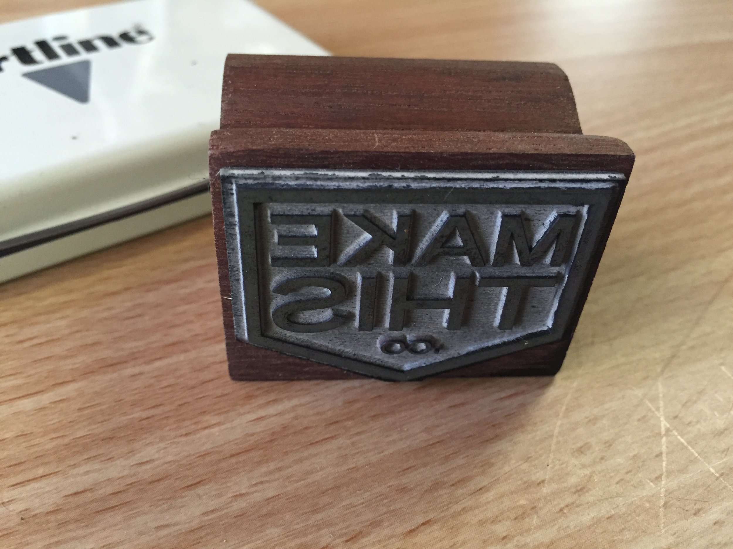 Make This logo rubber stamp