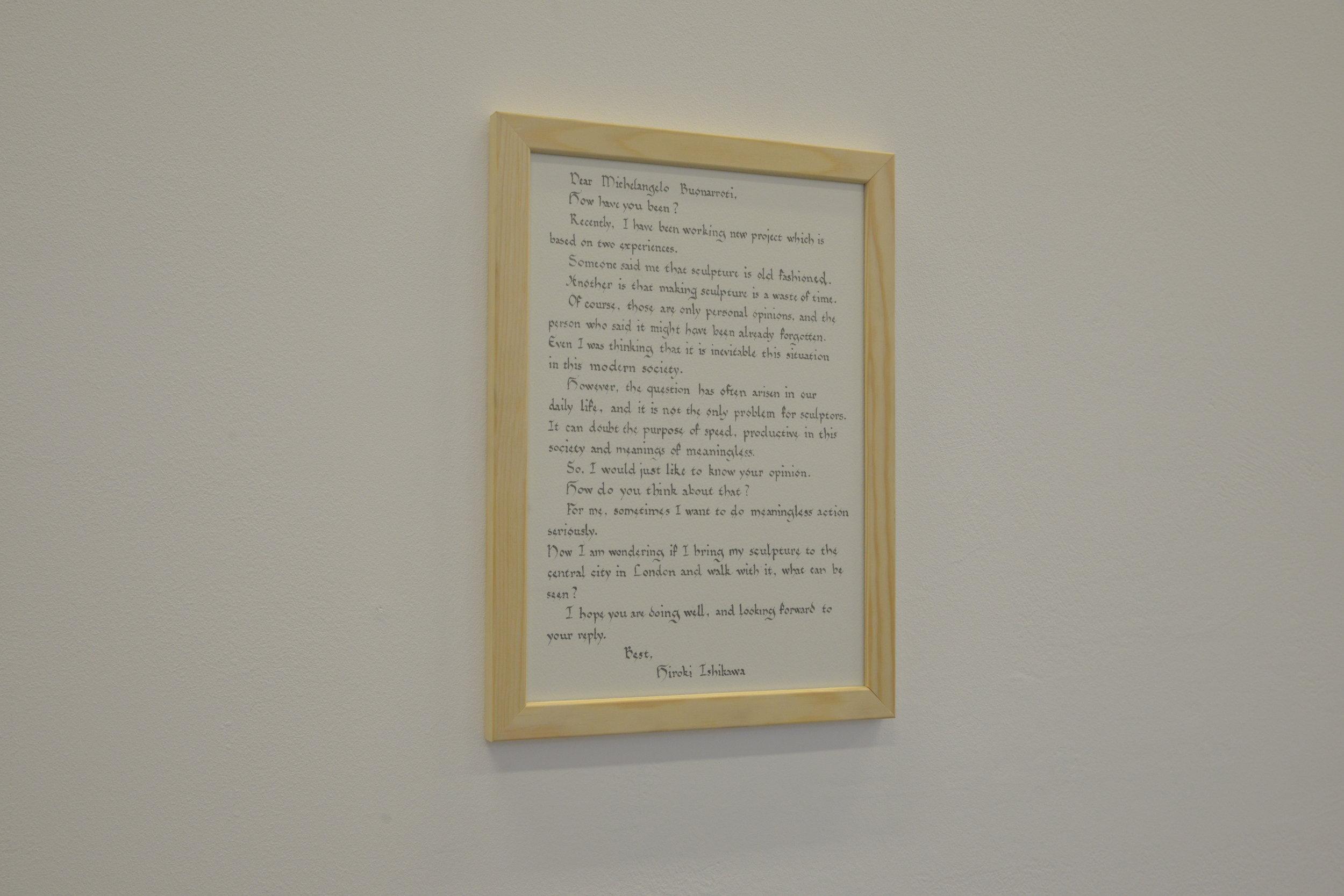 Dear Michelangelo / ink on paper