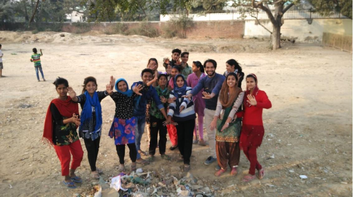 The Jagriks celebrate after cleaning up their neighbourhood!