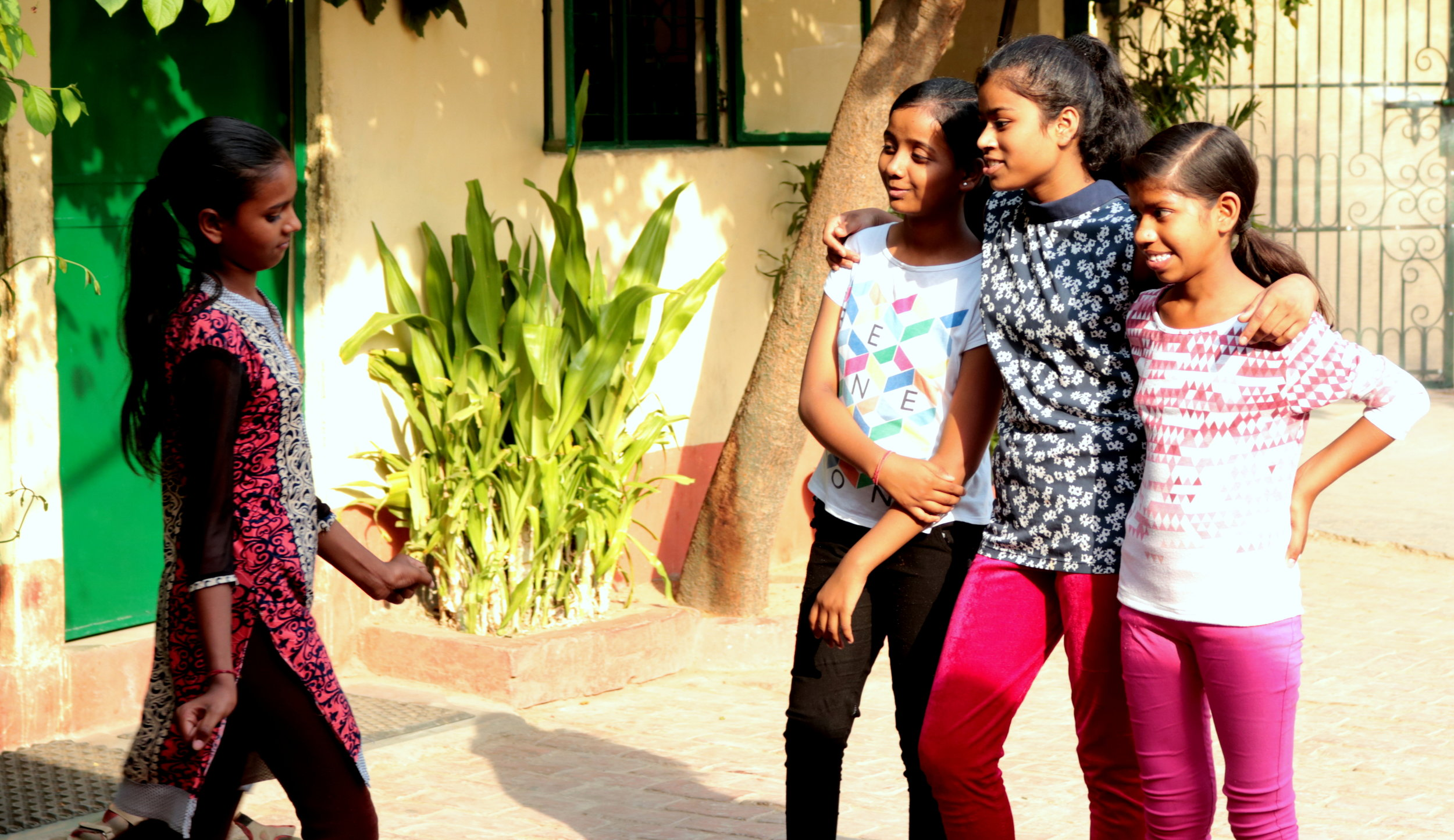 Girls leading the role-play