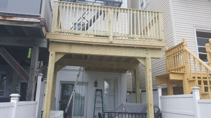Deck Build Out in Jersey City Heights