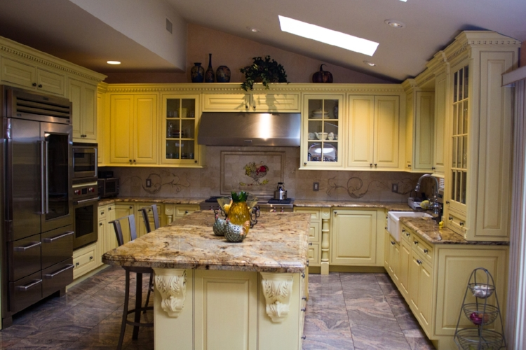 Full Kitchen Renovation with new island and skylight