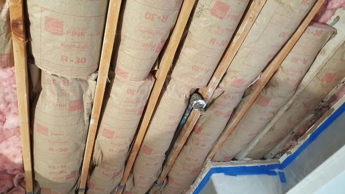 Installation of new insulation