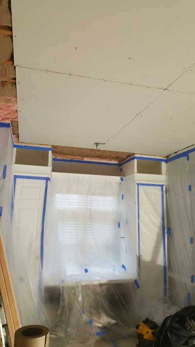 Installation of two layers of quiet sheetrock