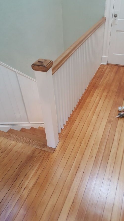 Refinished Railing & Balusters Jersey City House