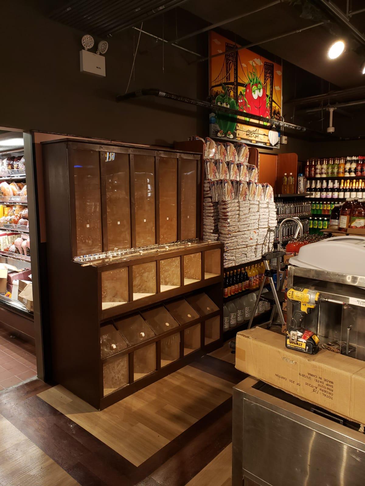 Custom shelving in commercial location