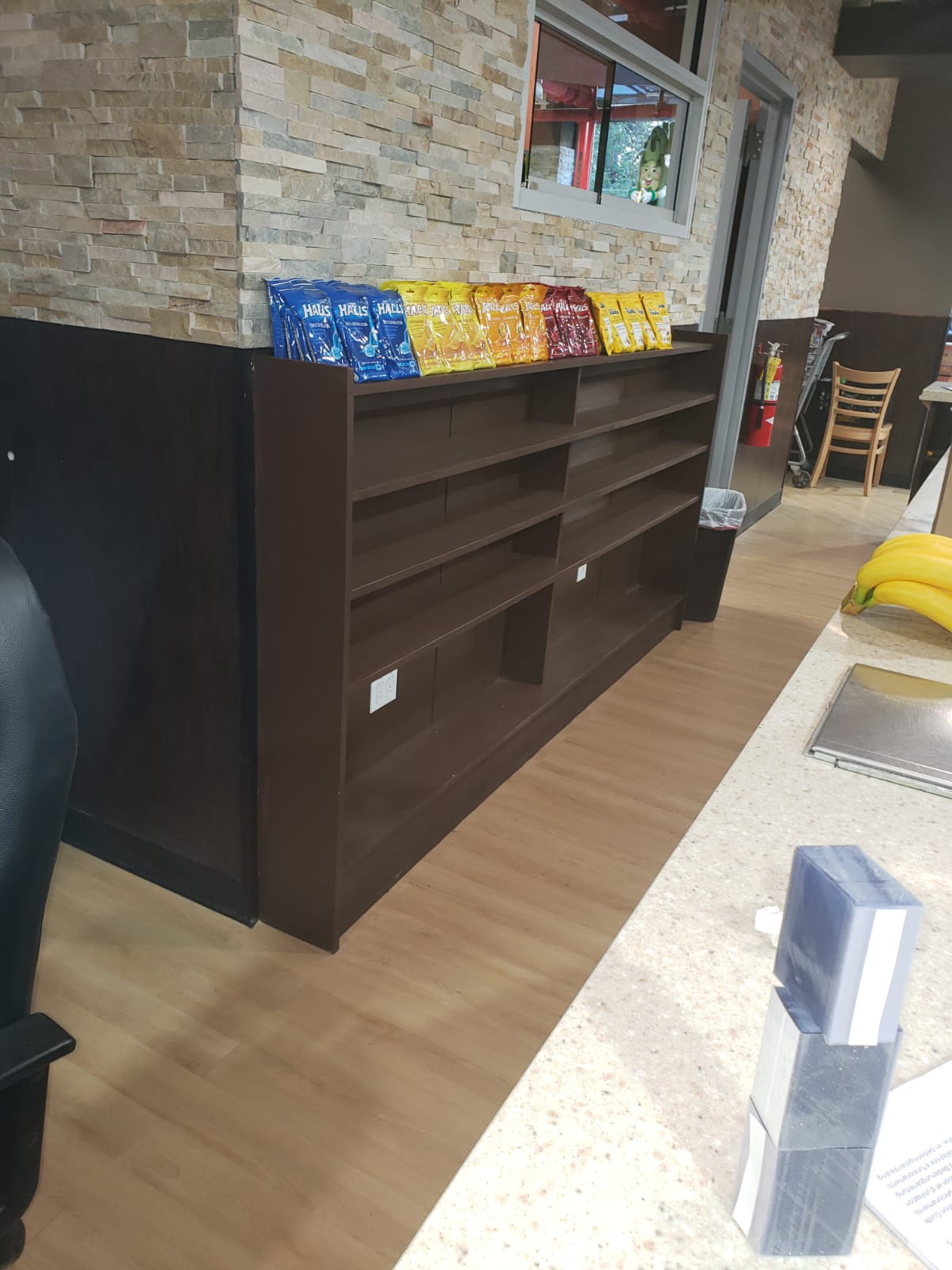 Custom shelving in a commercial location