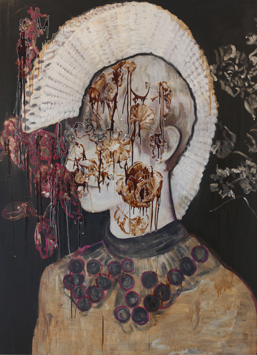 Tell the tale (to me) 2014  tempera op doek 200 x 150