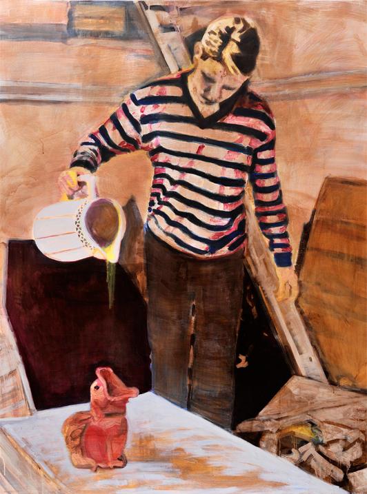 Fountainhead 2010 -2012 tempera, acryl en pastel op doek 200 x 150 cm