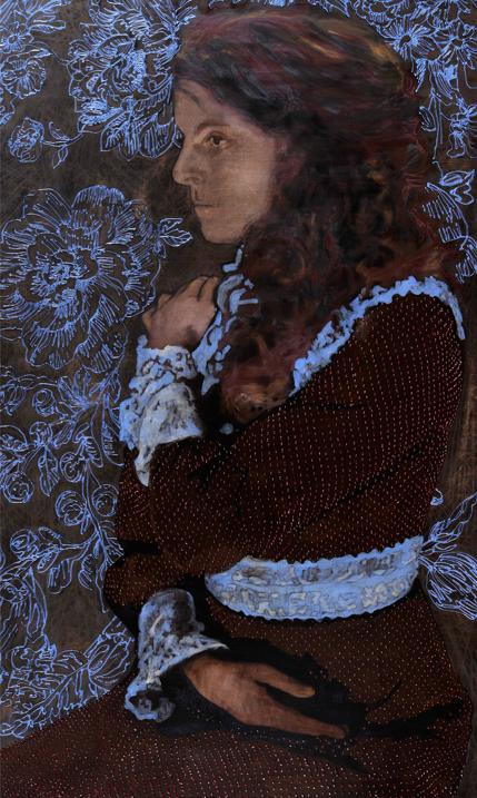 Worship 2012 tempera, acryl, houtskool en alkyd op doek 250 x 150 cm