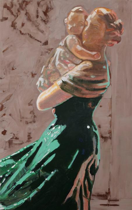 Keep me save schilderij op doek 160 x 100 cm