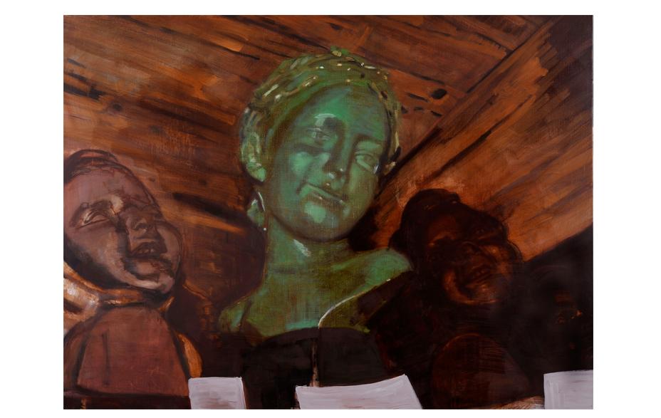Bring me to life 2011 tempera en acryl op doek 200 x 150 cm