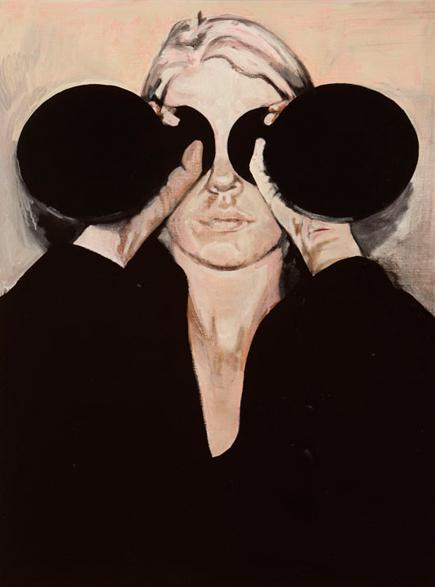 Window of her eyes 2010 schilderij op doek 110 x 90 cm