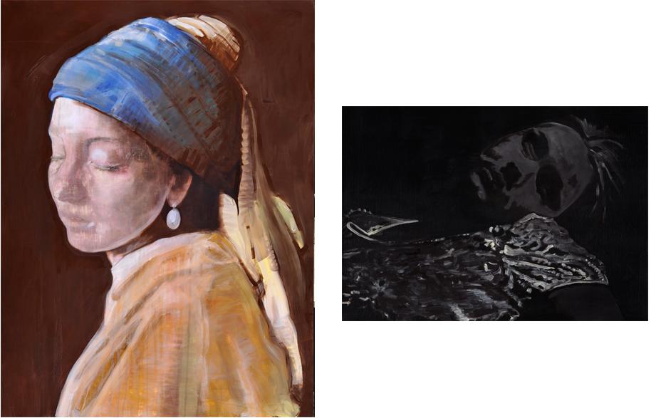 End of innocense schilderij op doek 200 x 150 cm  Landscape of life 2010 tempera schilderij op doek 70 x 100 cm