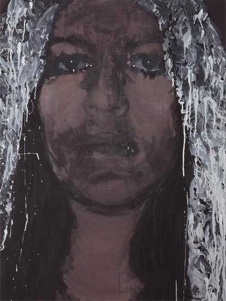 Just human 2010 tempera en acryl op doek 110 x 90 cm
