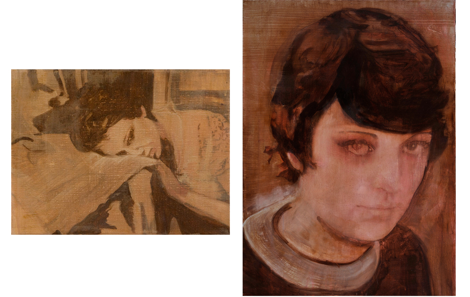 Hold on 2010 schilderij op doek 30 x 40 cm   I got life 2010 schilderij op doek 70 x 50 cm