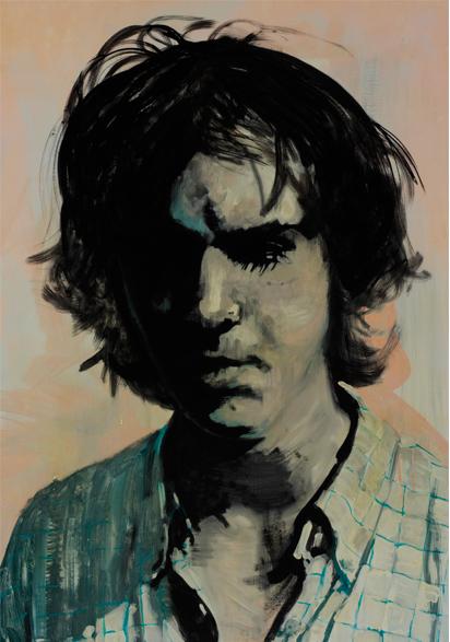 Behind those eyes 2009 100 x 70 cm schilderij op doek