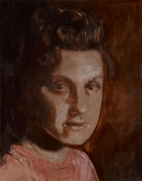 Embrase me 2009 schilderij op doek 50 x 40 cm