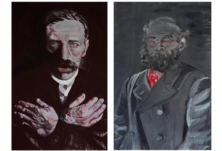 Zonder titel 2007 schilderij op doek 200 x 130 cm  Zonder titel 2007 schilderij op doek 200 x 130 cm